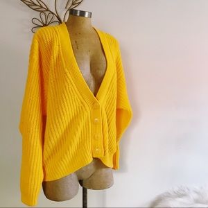 Vintage Jan Taylor Clothing Yellow Cardigan M
